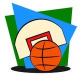 Элементы для баскетбола Стоковое Изображение