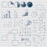 Элементы Doodle дела infographic Стоковые Фото