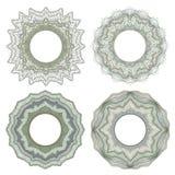 Элементы Guilloche декоративные Стоковые Изображения RF
