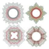 Элементы Guilloche декоративные Стоковая Фотография RF