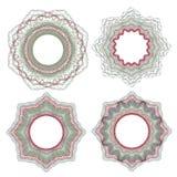 Элементы Guilloche декоративные Стоковое Изображение