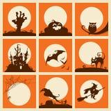 элементы halloween собрания Стоковые Изображения