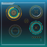 Элементы Hud, диаграмма валют также вектор иллюстрации притяжки corel Стоковое Изображение RF