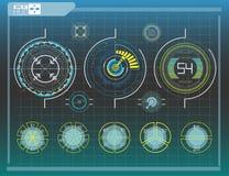 Элементы Hud, диаграмма также вектор иллюстрации притяжки corel Головной дисплей Стоковая Фотография RF