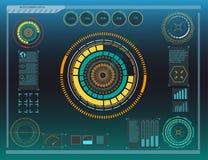 Элементы Hud, диаграмма также вектор иллюстрации притяжки corel Элементы головного дисплея для сети Стоковая Фотография