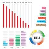 элементы infographic диаграммы диаграммы дела изолировали белизну расстегая Стоковое Изображение RF