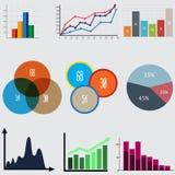 элементы infographic диаграммы и графики дела Стоковое Фото