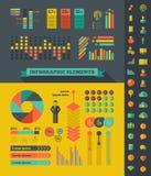 Элементы Infographic ИТ-индустрия Стоковое Изображение RF