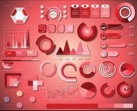 Элементы Infographic ИТ-индустрия Стоковые Фотографии RF