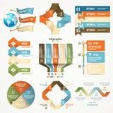 Элементы Infographic и принципиальная схема связи Стоковая Фотография RF