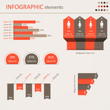 Элементы Infographic схематические Стоковая Фотография