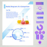 Элементы Infographic схематические Стоковое Фото