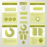 Элементы Infographic схематические Стоковые Изображения