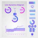 Элементы Infographic схематические Стоковое Изображение