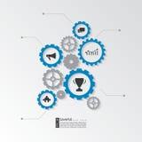 элементы infographic Шестерня Cogwheel - концепция дела Стоковое Фото