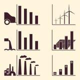 Элементы Infographic экологичности Стоковое Фото