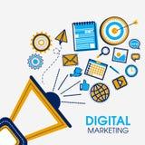 Элементы Infographic для концепции маркетинга цифров Стоковые Изображения RF