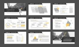 Элементы Infographic для шаблонов представления бесплатная иллюстрация