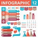 Элементы 12 Infographic Стоковое Изображение RF