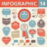 Элементы 14 Infographic Стоковые Изображения RF