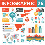 Элементы 26 Infographic Стоковое Фото
