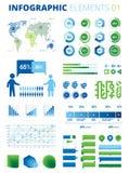 Элементы 01 Infographic Стоковое Изображение RF