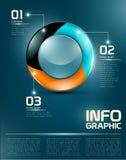 Элементы Infographic UI Стоковые Изображения