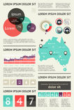 Элементы Infographics с кнопками и меню Стоковые Фотографии RF