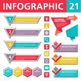Элементы 21 Infographics Стоковое Изображение