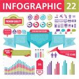 Элементы 22 Infographics Стоковое Изображение RF