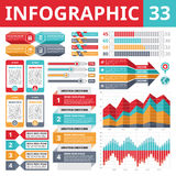 Элементы 33 Infographics Стоковые Изображения RF