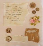 Элементы Scrapbook стоковые изображения