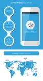 Элементы Ui, infographics и сети Стоковые Фотографии RF