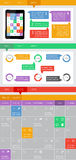Элементы Ui, infographics и сеты включая плоский дизайн Стоковое Изображение RF