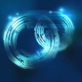 Элемент абстрактной предпосылки круговой графический в голубых цветах Стоковые Изображения RF