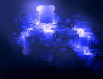 Элемент абстрактной предпосылки круговой графический в голубых цветах Стоковое Фото