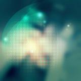 Элемент абстрактной точки полутонового изображения предпосылки графический в зеленых цветах Стоковое фото RF