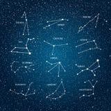Элемент вектора астрологический Знаки зодиака horoscope 10 eps Стоковая Фотография RF