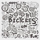 Элемент велосипеда Doodle Стоковые Изображения RF