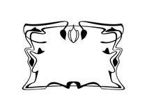 Элемент границы винтажной каллиграфической квадратной рамки декоративный флористический с эффектными демонстрациями Стоковое Фото