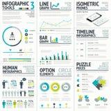 Элемент дела и человеческого вектора infographic большой иллюстрация штока