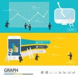 Элемент дела infographic/infographic/дизайн высоты качественный Стоковая Фотография RF