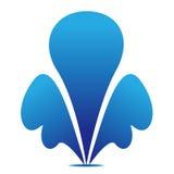 Элемент знака значка символа воды фонтана голубой бесплатная иллюстрация
