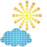 Элемент значка и дизайна Солнця Стоковое Изображение RF
