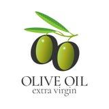 Элемент дизайна вектора оливкового масла, логотип иллюстрация штока