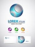 Элемент дизайна значка - сфера 3d Стоковое Фото