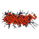 Элемент дизайна искусства вектора граффити городской Стоковая Фотография