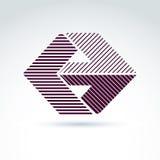 Элемент дизайна конспекта вектора с параллельными нашивками корпоративно иллюстрация вектора