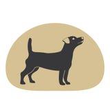 Элемент дизайна логотипа собаки Стоковая Фотография