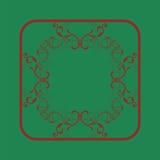 Элемент дизайна орнамента вектора Античные рамка и место флоры для текста Стоковое Фото